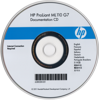 HP ProLiantサーバー ML110 G7  Documentation CD